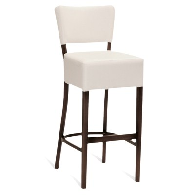 Orege Upholstered Padded High Stool with Backrest