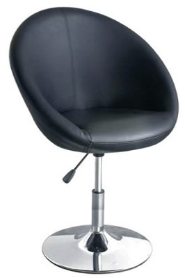 Black oval height adjustable kitchen dining chair