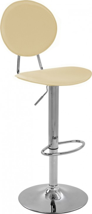 Grany cream kitchen breakfast bar stool with padded back and seat