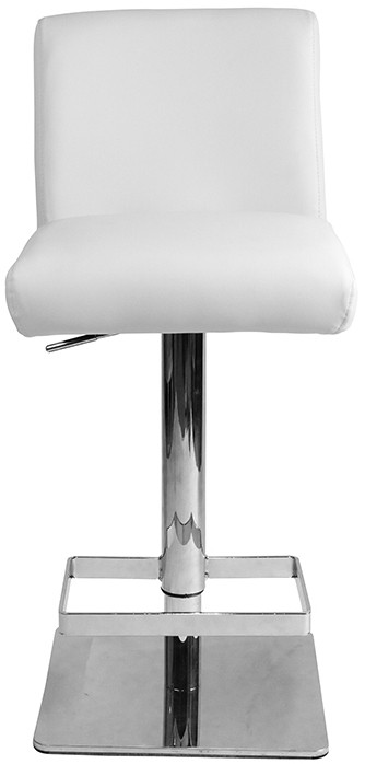 Saponi real leather white deluxe kitchen breakfast bar stool with padded back and seat