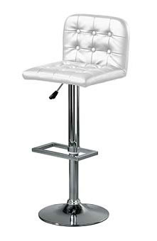 barcelona white padded bar stool