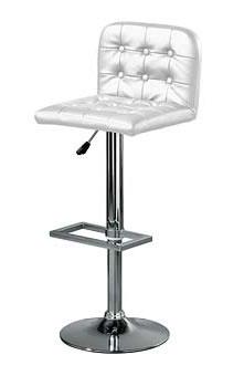 barcelona white padded bar stool