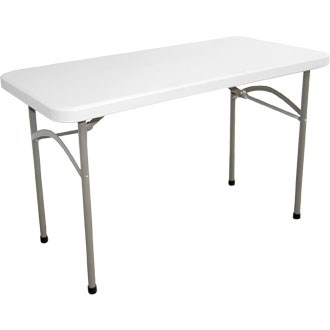 Flaydon foldaway rectangular utility table 4ft