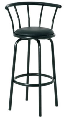 Milt black bar stool
