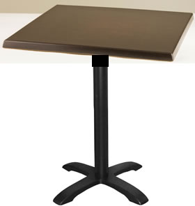 Isop kitchen dining table black cast iron frame with square table top