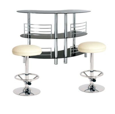 Prose Half Moon Bar Unit and 2 Padded Stools