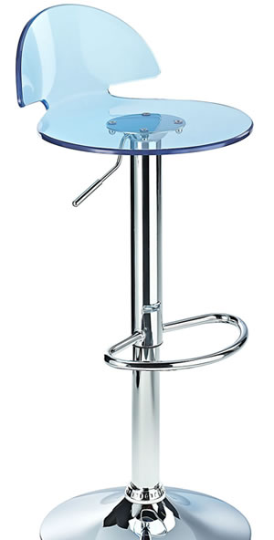 Kresty acrylic blue kitchen bar stool