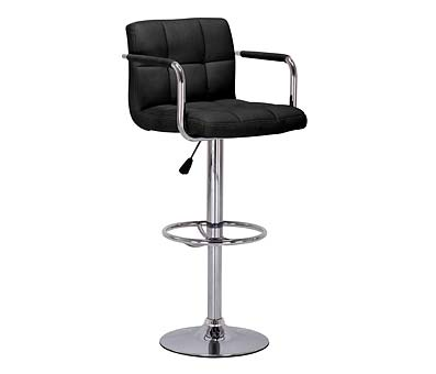 Prime Adjustable Kitchen Bar Chair - Black