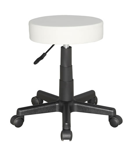 Suseny Therapist Bar Stool Height Adjustable low stool on wheels castors - white