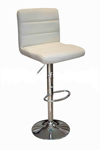 Ocean Cream Breakfast Bar Stool - Cream Padded Seat and Back