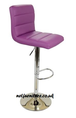 Ocean Kitchen Breakfast Bar Stool - Swivel Adjustable - Chrome and Faux Leather in Choice of Colours