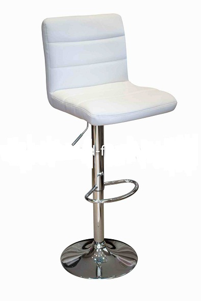 Ocean White Kitchen Bar Stool Padded Seat Height Adjustable