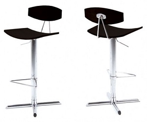 Belluno Adjustable Italian-style Bar Stool with chrome base