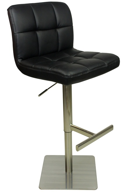 Algari Deluxe Kitchen Breakfast Bar Stool Square Weighted Base Height Adjustable