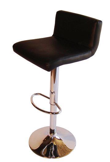 Tenor Kitchen Breakfast Bar Stool Padded Black Seat Low Back Height Adjustable