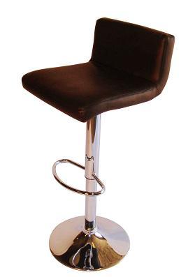 Tenor Kitchen Breakfast Bar Stool Padded Brown Seat Low Back Height Adjustable