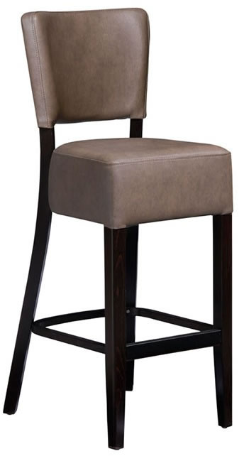 Ultran Bar Stool Faux Leather Padded Seat and Back Fully Assembled