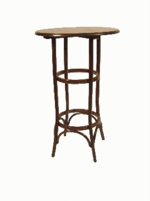 Katra Bentwood  Tall Poseur  Round Wood Frame Table