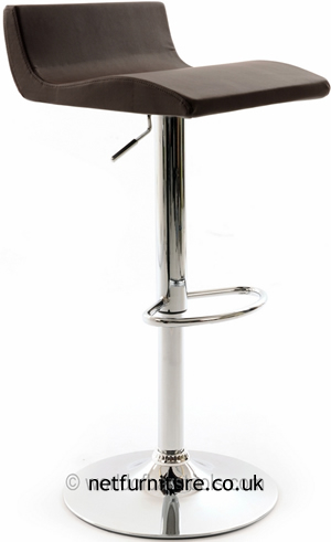 Cusio Kitchen Bar Stool With Brown Adjustable Swivel Seat