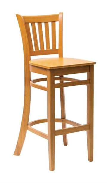 Gredile light wood beech frame kitchen breakfast bar stools with back Fully Assembled