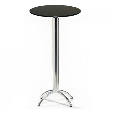 barluna poseur tall black round table