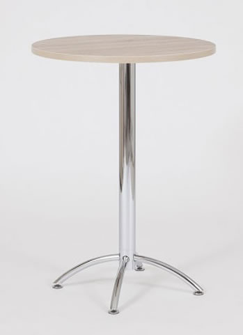 Barlone natural round tall poseur kitchen bar table