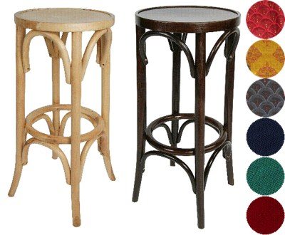 Aski Wood Bar Stool  Padded or Unpadded Option Fully Assembled
