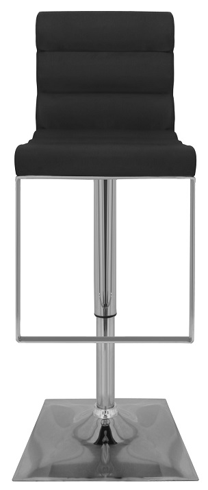 Baruchi Adjustable Bar Stool with faux leather padded seat and chrome base