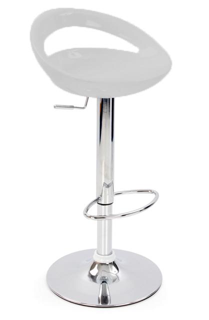 Nuovo Kitchen Bar Stool Silver ABS Seat Height Adjustable Swivel Seat