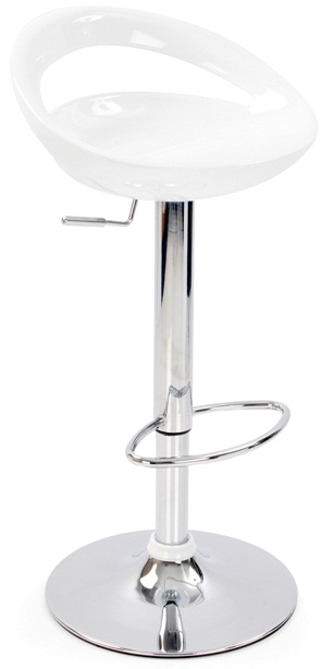Nuovo Kitchen Bar Stool White ABS Seat Height Adjustable Swivel Seat