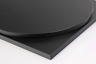 Taybon Laminate Black Top - Large, small, round or square
