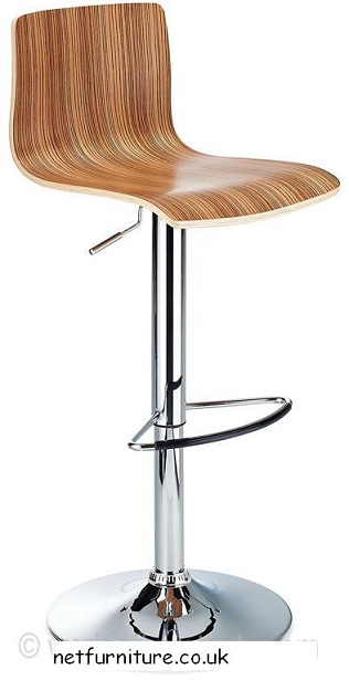 Windy 360 Degree Swivel Height Adjustable Wooden Bar Stool