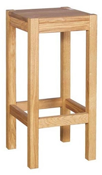 Harroney Solid Oak Kitchen Breakfast Bar Stool