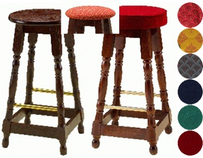 Basra Wood Kitchen Breakfast Bar Stool Padded or Unpadded Seat Option Fully Assembled
