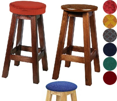 Edna Wood Bar Stool Padded or Unpadded Seat Option Fully Assembled