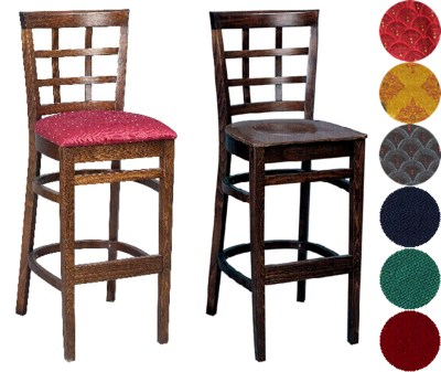 Estra Wood Kitchen Bar Stool - Padded or Unpadded Option Fully Assembled