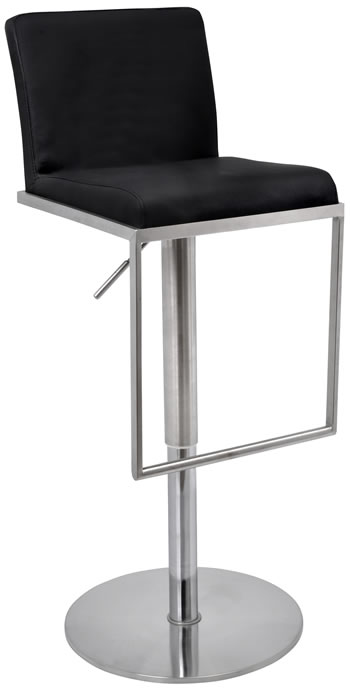 Barcely Brushed Steel Bar Stool