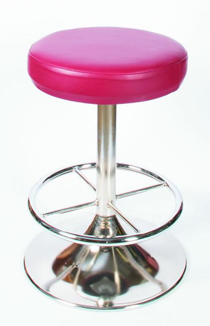 Zangor Pink Quality Retro Kitchen Breakfast Bar Stool Fully Assembled