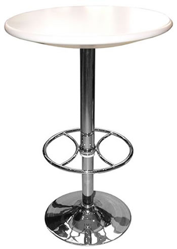 carboni kitchen bar table white top height adjustable