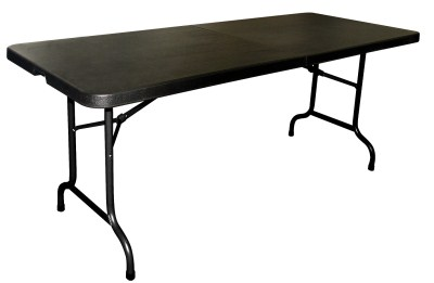 Restine black middle folding table
