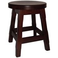 Balmeno Wooden Low Bar Stool Walnut Finish Pair of 2