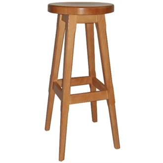 Balmeno Wooden High Bar Stool Natural Finish Pair of 2