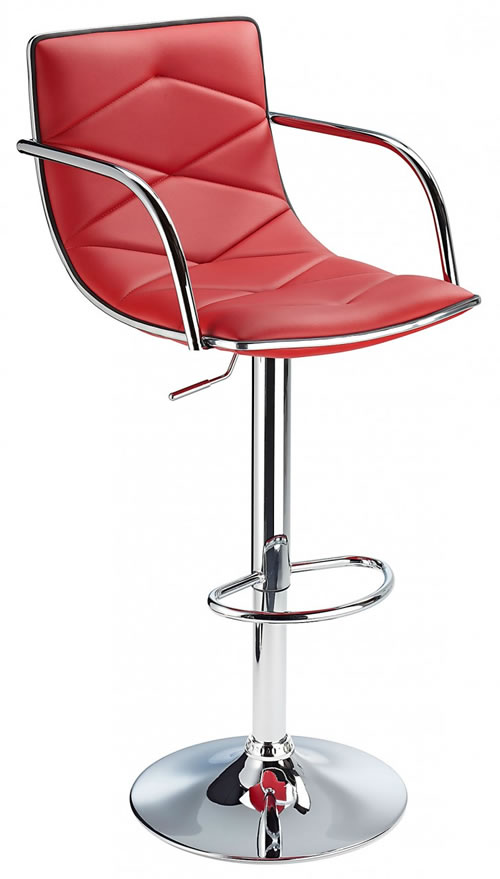 Berkley Quality Kitchen Bar Stool- Red
