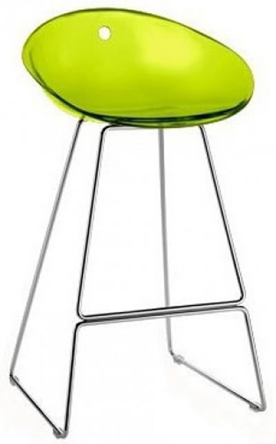 premise acrylic kitchen breakfast bar stool fixed height red or green seat