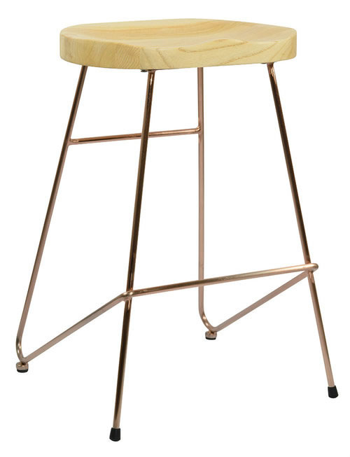 Elson Copper Frame Kitchen Breakfast Bar Stool Industrial Vintage Style