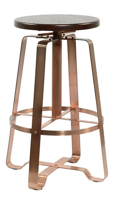 Padasot Copper Frame Kitchen Breakfast Bar Stool Height Adjustable Industrial Style