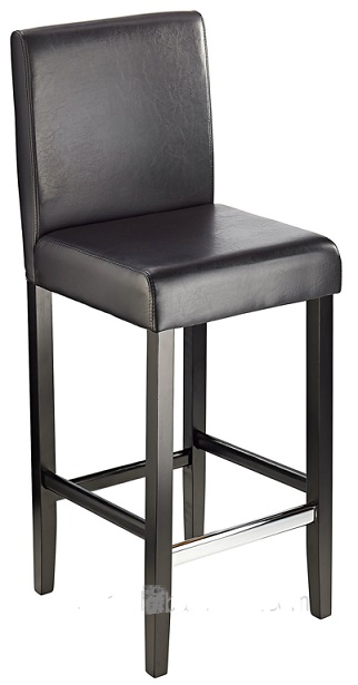Diego Fixed Height, Faux Leather,  Padded Bar Stool - Brown