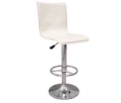 cremone cream kitchen breakfast bar stool padded seat and back