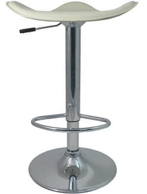 Light Venus Breakfast Bar Stool Cream Padded Saddle Style Seat