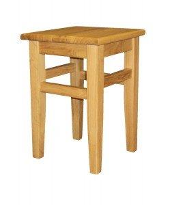 Crafty Solid Oak Low Kitchen Stool Fully Assembled